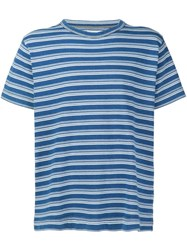 321 Loose Fit Striped T Shirt Blue