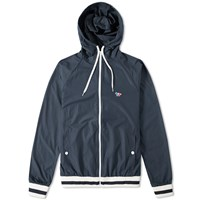 Maison Kitsune Tricolour Fox Windbreaker Blue