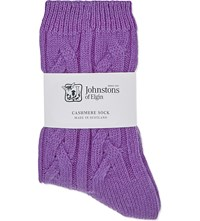 Johnstons Cable Knit Cashmere Socks Carousel