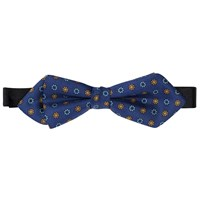 Peckham Rye Made In England Floral Bow Tie Blue