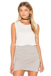 James Perse Classic Relaxed Tank Ivory