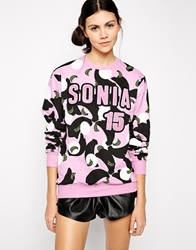 Sonia By Sonia Rykiel Sweatshirt With Embellishment Peony