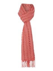 Dickins And Jones Cut Out Scarf Coral