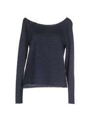 Only Topwear Sweatshirts Women Dark Blue