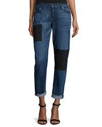 Cj By Cookie Johnson Ultra Suede Patch Boyfriend Jeans Margie
