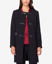 Tahari By Arthur S. Levine Asl Buckle Front Topper Jacket Black