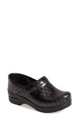 Dansko 'Stapled Collection Professional' Clog Women Black Lattice Patent