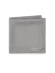 Charvet Silk Pocket Square Silver