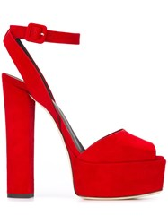 Giuseppe Zanotti Design 'Betty' Platform Sandals Red