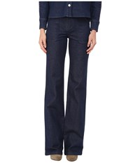 See By Chloe Embellished Denim Pants Indigo Women's Casual Pants Blue