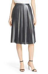 Women's Ted Baker London 'Zainea' Metallic Pleated Midi Skirt