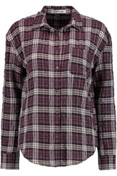 Elizabeth And James Carine Checked Woven Shirt Red