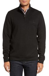 Ted Baker Men's Big And Tall London Funnel Neck Quarter Zip Pullover Black