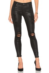7 For All Mankind The Ankle Distressed Skinny Coated Fashion