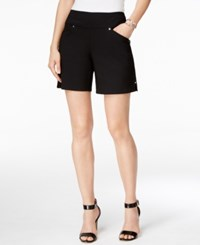 Inc International Concepts Petite Pull On Shorts Only At Macy's Deep Black