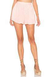 Lucca Couture Pleated Short Coral