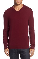 Nordstrom Men's Big And Tall Men's Shop Cashmere V Neck Sweater Burgundy London