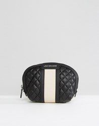 Love Moschino Quilted Make Up Bag Multi Black