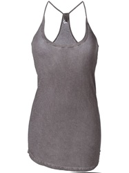 Humanoid Racer Back Tank Top Grey