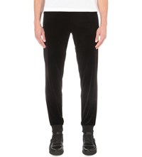 Versace Cuffed Velour Jogging Bottoms Black
