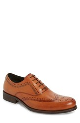 Men's Jump 'Vickers' Wingtip Tan Vintage Leather
