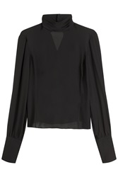 Tamara Mellon Silk Blouse Black