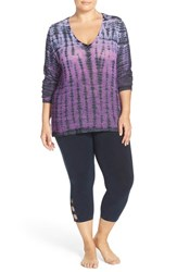 Plus Size Women's Hard Tail Long Sleeve Tie Dye Tee