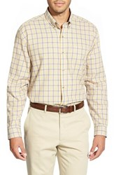Men's Big And Tall Cutter And Buck 'Idaho Plaid' Classic Fit Cotton Twill Sport Shirt