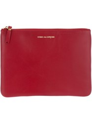 Comme Des Gara Ons Wallet Classic Zip Pouch Red