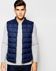 Jack Wills Quilted Nylon Gilet In Navy