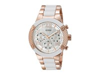 Guess U0770l2 Rose Gold White Watches Pink