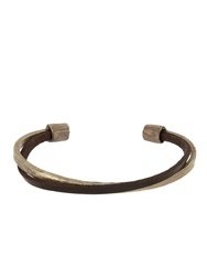 Zadeh Liam Leather And Silver Cuff