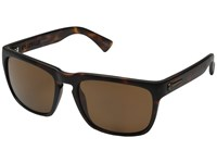Electric Eyewear Knoxville Matte Tort Melanin Level 1 Bronze Polar Sport Sunglasses Brown
