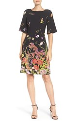 Adrianna Papell Women's Placed Print Crepe Dress