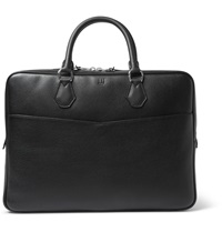 Dunhill Boston Grained Leather Briefcase Black