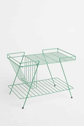 Magazine Rack And Basket In Turquoise Urban Outfitters