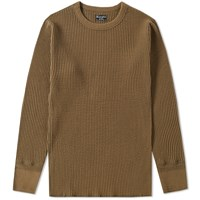 Homespun Long Sleeve Waffle Tee Green