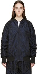 Perks And Mini Navy Camouflage Flyaway Bomber Jacket
