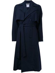 Cityshop Belted Trench Coat Blue