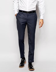 Jack And Jones Jack And Jones Premium Suit Trouser With Stretch In Slim Fit Blue
