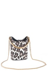 Stella Mccartney 'Small Ring' Leopard Print Faux Calf Hair Crossbody Bag
