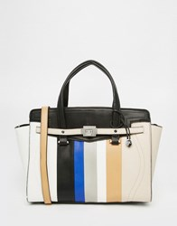 Fiorelli Striped Large Tote Bag Colour Stripe White