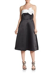 Erin By Erin Fetherston Satin Strapless Fit And Flare Dress Black