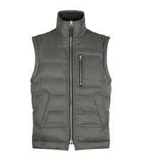 Tom Ford Quilted Down Gilet Male Dark Grey