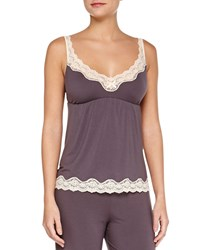 Eberjey Lady Godiva Lace Trim Lounge Camisole Pebble Beige