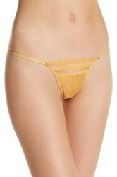 Free People More Than Words Thong Yellow