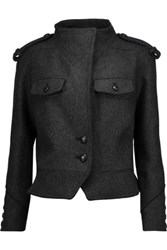 Isabel Marant Kieffer Wool Blend Jacket Charcoal