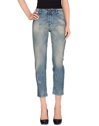 Plein Sud Jeanius Denim Denim Capris Women Blue