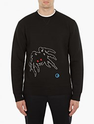 Lanvin Black Textured Spider Sweatshirt