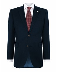 Chester Barrie Serge Tailored Fit Suit Jacket Navy